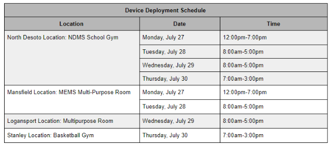 Chromebook Deployment for ALL PK-12 Students